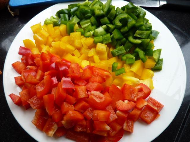 Gesneden Paprika (per 200 Gram)