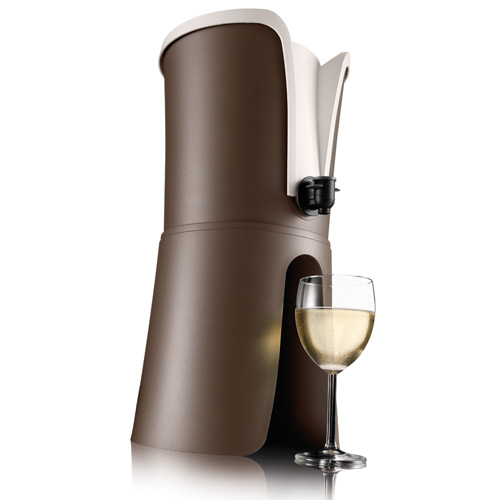 Witte wijn met tap