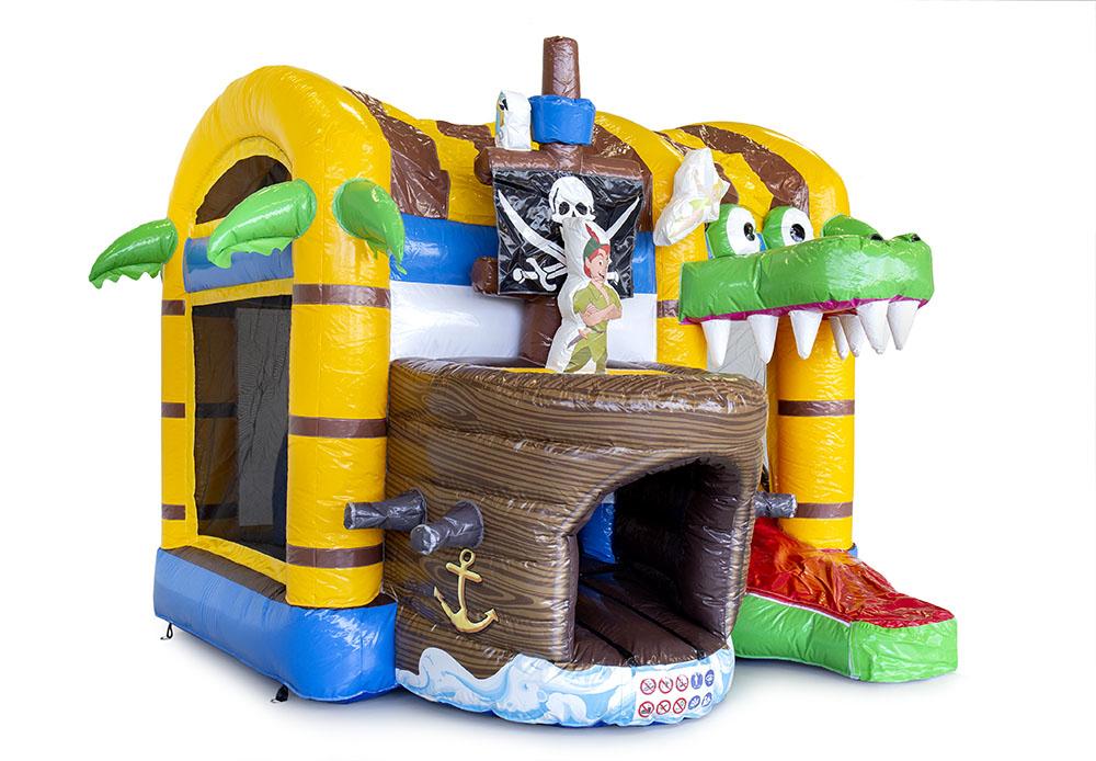 springkussen met dak piratenschip